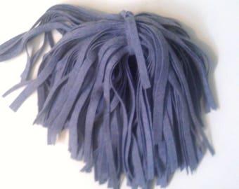 80 Mill Dyed Wool Rug Hooking Strips  Dk. Lavender