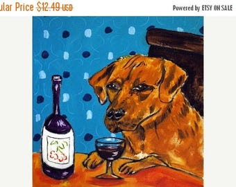 20% off Rhodesian Ridgeback at the Wine Bar Dog Art Tile Coaster Gift