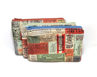 Cosmetic Case, Cord Case, Bridesmaid Gifts, All-Purpose Zipper Case, Travel Tickets 9055 9056 9057