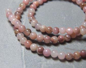 4.5mm Round Lepidolite Gemstone Beads (93)