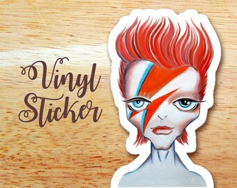 Rock Star Die Cut Vinyl Sticker Decal, Snail Mail Gift, Postcrossing