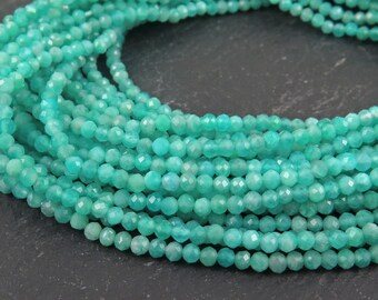 "AAA Amazonite Micro-Faceted Rondelles 2mm ~ 13"" Strand (CG9684)"