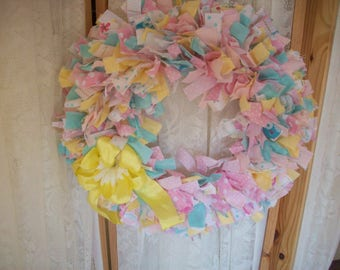 HERE COMES PETER Cotton tail Easter or Nursery wreath