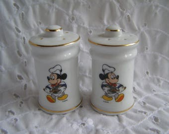 Vintage Mickey Mouse Salt and Pepper Shakers Japan