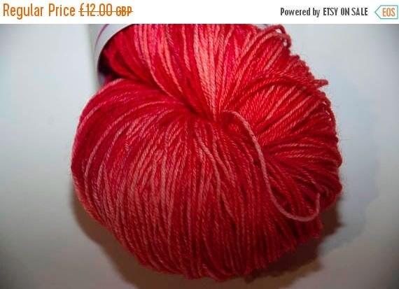 Christmas In July Hand-Dyed Yarn in Cherry Pie Colourway Sock Yarn Superwash Wool/Nylon Tootsie Base