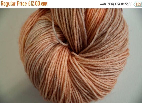 Christmas In July Hand-Dyed Yarn in Peach Pie Colourway Sock Yarn Superwash Wool/Nylon Tootsie Base
