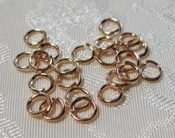 Light Gold Plated 4mm Jump Rings 20 Gauge 638