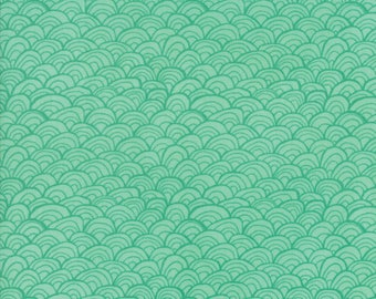 Midnight Garden Fabric // Teal Shells Quilting Fabric  // 1canoe2 // cotton quilting