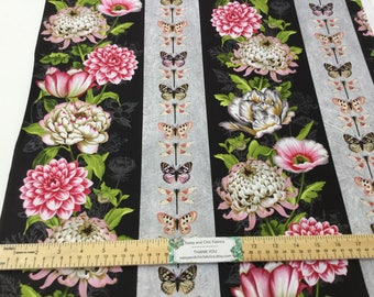 New ~ Repeating Stripe Multi Color ~ Tivoli Garden by Anne Rowan for Wilmington Prints, Quilt Cotton, Easter, Spring Fabric