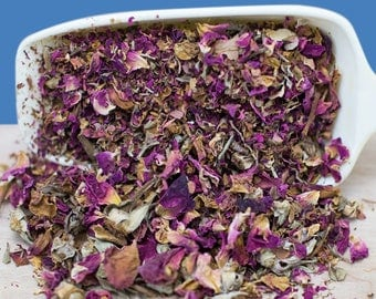 Organic Dried Red Rose Petals, Red Rose Buds, Edible Flowers, Herb Tea, Wedding, Shower, Potpourri or Craft Supply, 1 oz