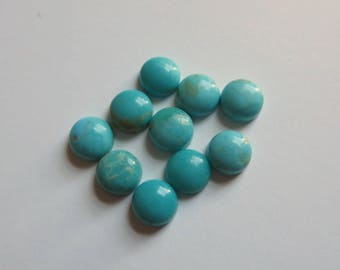 5mm Round Turquoise Cabochons--Parcel of 10