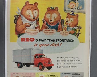 Truck  #114    Reo Trucks      Magazine Ad - Oct  1953