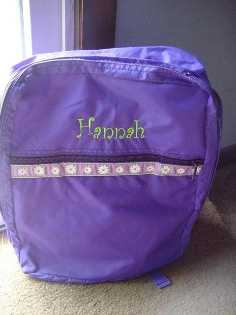 1f5a253b00 Personalized Medium Size Bookbag Backpack Daycare Kindergarten Overnight  School Camp Girls