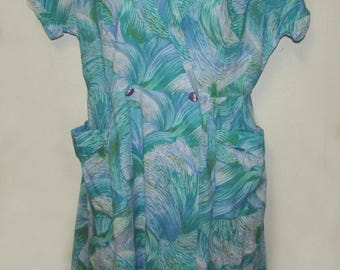 Vintage 60s Saybury feather print  wrap dress with tags.  large