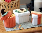 PATTERN: Fall Boxes in Plastic Canvas