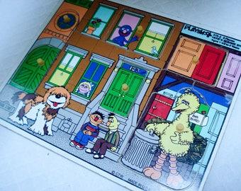 Vintage toddler puzzle - 1970s Sesame Street