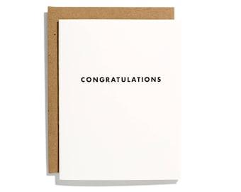 Futura Congratulations - Letterpress Congratulations Card - CC147
