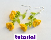 Tutorial: Buttercup earrings and pendant Beading instructions Beading pattern Earrings tutorial Pendant tutorial PDF tutorial beadwork T9