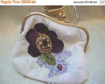 36% OFF Closet Cleaning PURSE Handbag Handmade Whimsical Elegant Romantic Weddings Brides Proms - Soft Green
