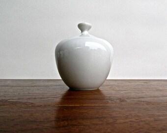 Holiday Urlaub Sugar Bowl, Vintage Modern German Porcelain, Minmalist Urlaub Porzellanfabrik