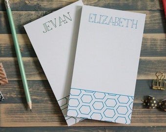Personalized Geometric Notepad | Personal Memo Pad |Shopping Note Pad | Gift for Her | Christmas Gift | Teacher Gift | Christmas | Zoe