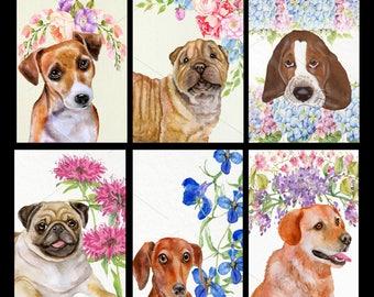 Dog Card Set-Set of Six Dog Breeds Greeting Cards