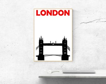 London Print // London Art // London Poster // London Gift // England Print // United Kingdom Poster // English Poster // British Art Gift