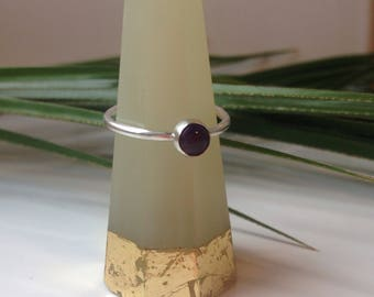 Amethyst Stacking Ring. Gemstone Stacking Ring.