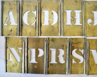 Vintage Gold  Metal Stencils for Craft Projects, Art Projects, Home Decor