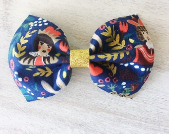 Alice Collection Jenny Bow. 4 inch Large Bow. Rifle Paper Company. Clip or Headband. RTS