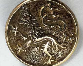 Large Antique Livery Button with a Griffin