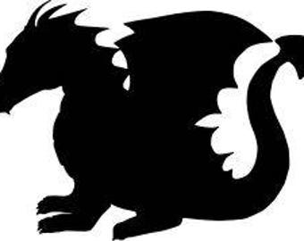 Dragon Fantasy Vinyl Car Decal Bumper Window Sticker Any Color Multiple Sizes Mothers Day Jenuine Crafts