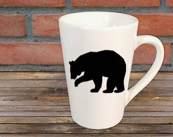 Bear Mug Coffee Cup Gift Home Decor Kitchen Bar Gift For Her Him Any Color  Personalized