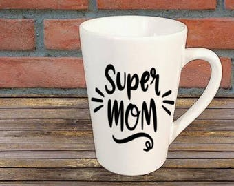 Super Mom Mug Coffee Cup Gift Home Decor Kitchen Bar Gift for Her Him Any Color Personalized Custom Jenuine Crafts