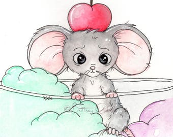 Ice Cream Mouse Fine Art Print