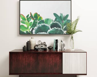 Plant Print, Botanical Art, Gift for Gardener, Minimal Kitchen Wall Decor - Plant Trio