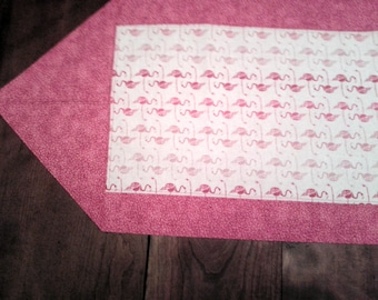 Pink Flamingos Table Runner