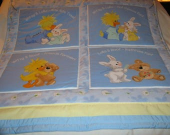 Baby Little Suzy's Zoo Vintage Cotton Baby/Toddler Quilt-Newly Made 2017