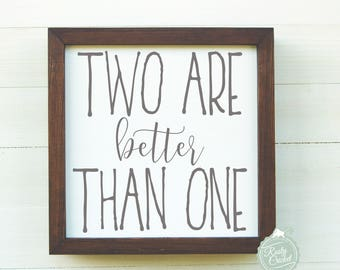 Two are better than one, Twin Baby Sign, Newborn Twins Nursery Decor, Girl Twins, Boy Twins