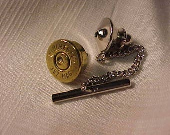 Bullet Tie Tack Winchester 357 Magnum Recycled Repurposed
