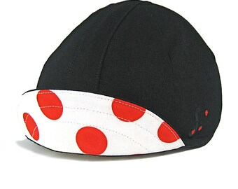 Red Dots Cycling Cap