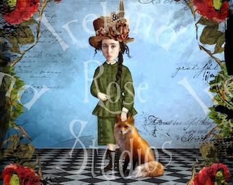 Samantha and Jack ~ Altered Art/Mixed Media Greeting Card