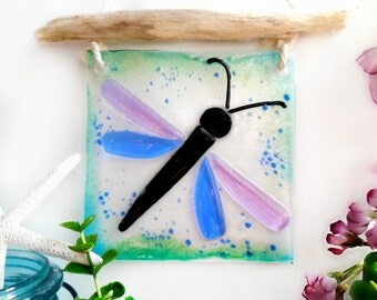 Fused Glass and Dragonfly Suncatcher