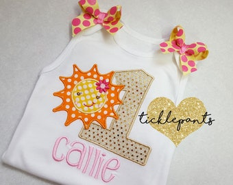 Colors can be changed - Girls birthday shirt - You are my Sunshine - Yellow gold sparkle - Can be made for all ages and sizes