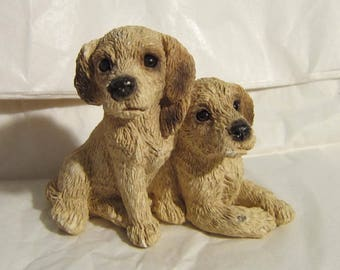 United Design YELLOW LAB Pups Figurine made in USA