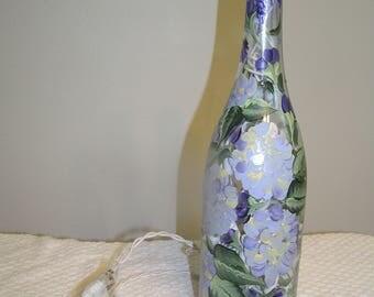Lighted Bottle - Hydrangea