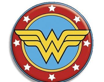 "25% OFF - Wonder Woman Symbol Pocket Mirror, Magnet or Pinback Button - 2.25"" MR571"
