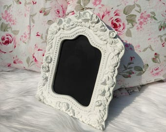 Embossed Roses Picture Frame Chalkboard