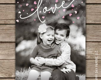 Heart Sprinkle - Custom Digital or Printed Photo Valentine Greeting Card