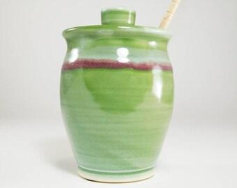 Honey Pot - Honey Jar -Honey Canister - Jar For Honey - Ceramic Honey Jar - Pot Honey - Sugar Bowl - Canister For Honey - In Stock